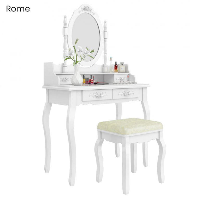 Tükrös asztal- Rome, fehér