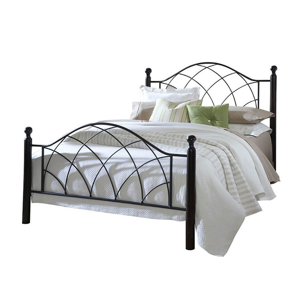 Lotti fém ágykeret ajándék ágyráccsal, több méretben és színben fekete