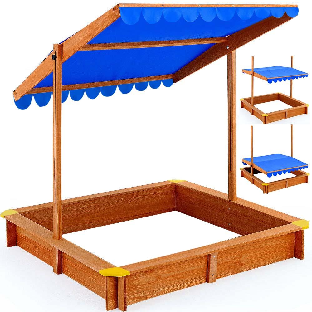 Árnyékoló tetős homokozó