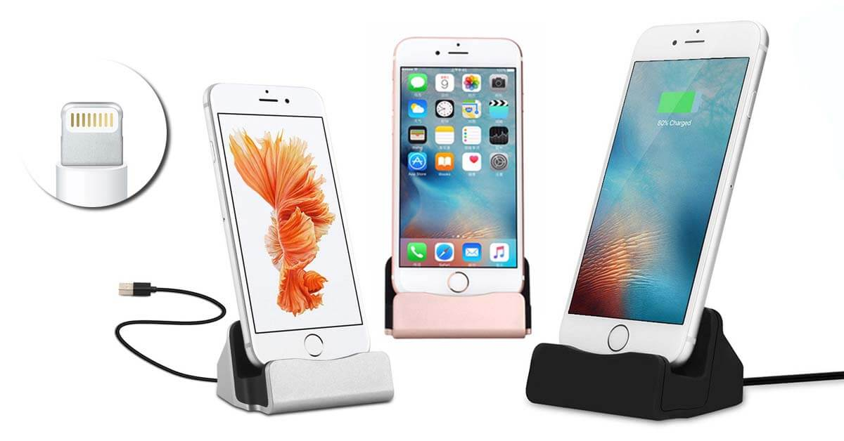 iPhone asztali töltő 3 színben