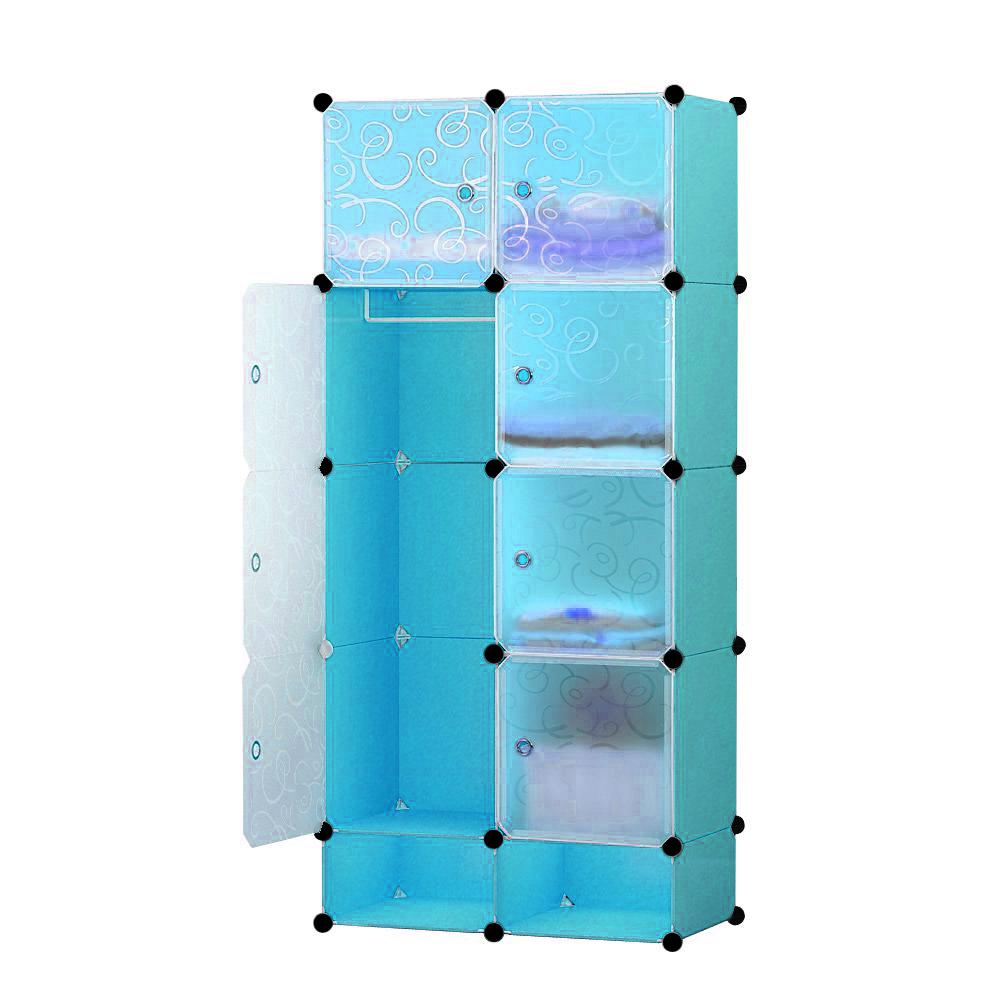 Műanyag elemes szekrény-kék
